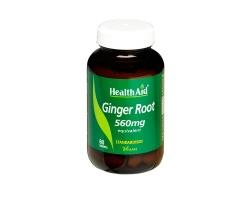 Health Aid Ginger Root 560mg Συμπλήρωμα με εκχύλισμα πιπερόριζας που συμβάλει στην υγεία του γαστρεντερικού συστήματος, 60tbs