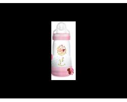 Mam Anti-Colic 351s, Mπιμπερό κατά των κολικών, με θηλή από Σιλικόνη, από 2+ μηνών, Θηλή-μετάξι από σιλικόνη, Μικρή ροή χρώματος ρόζ 260ml