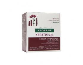 Klorane Keratincaps Quinquina Συμπλήρωμα Διατροφής με Κερατίνη για Δύναμη & Zωντάνια για Μαλλιά και Νύχια 30 κάψουλες
