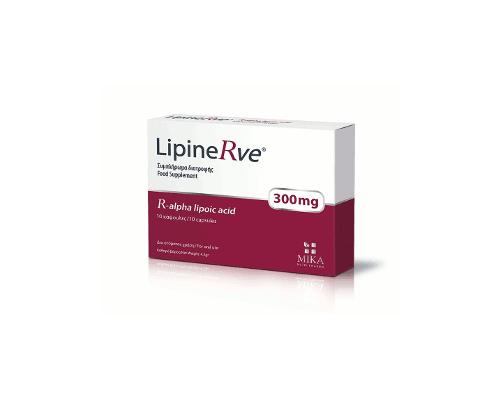 MIKA LipineRve Συμπλήρωμα διατροφής R-άλφα λιποΪκο 300mg 10 κάψουλες