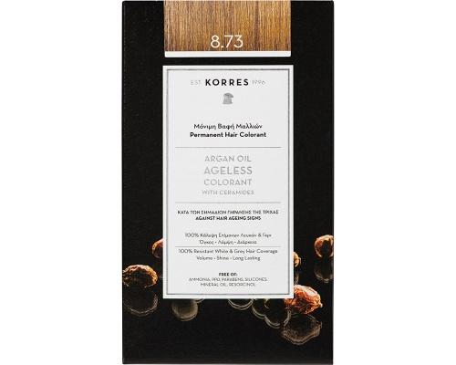 Korres Argan 8.73 Χρυσή Καραμέλα Μόνιμη Βαφή Μαλλιών, 50ml