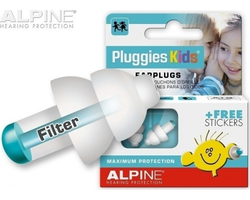 Alpine, Pluggies Kids Earplugs, Ωτοασπίδες Σιλικόνης για Παιδιά 111.31.150, 1 ζευγάρι