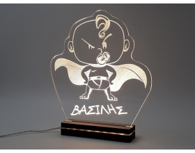 "Φωτιστικό Led ""Little Hero"" 21,5cm x25cm"