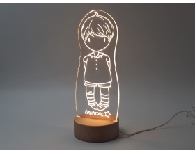 "Φωτιστικό Led ""Gorjuss doll Boy"" 13cm x 27cm"