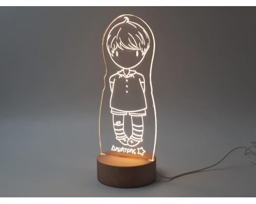 """Φωτιστικό Led """"Gorjuss doll Boy"""" 13cm x 27cm"""