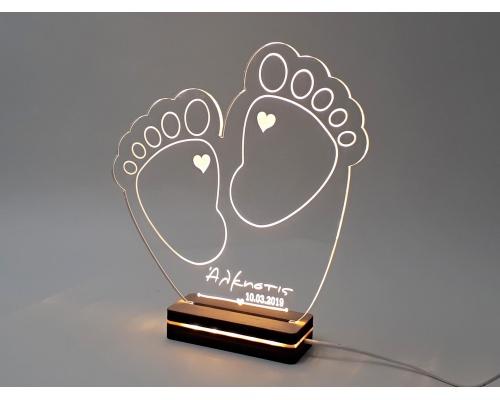 """Φωτιστικό Led """"Baby Feet"""" 23,5cmx22cm"""