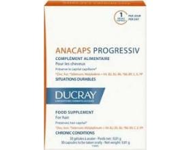 DUCRAY anacaps progressiv, Συμπληρωμα διατροφης για τα μαλλια 30caps