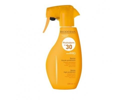 BIODERMA Photoderm Spray SPF30 Γαλάκτωμα Για όλους τους τύπους δέρματος για όλη την οικογένεια 400ml