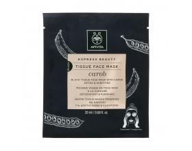 Apivita Express Beauty Tissue Face Mask Carob Μάσκα Προσώπου Για Αποτοξίνωση - Καθαρισμό 20ml