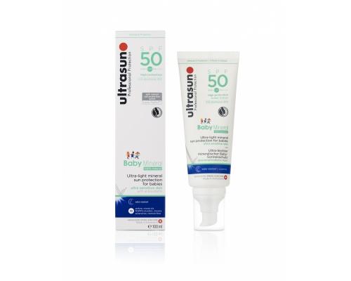 ultrasun Baby Mineral SPF 50+ Αντηλιακό προσώπου & σώματος Εξαιρετικά ελαφριά αντηλιακή προστασία 100ml