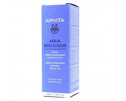 Apivita Aqua Beelicious Απαλή Κρέμα Ενυδάτωσης Πλούσιας Υφής  με Λουλούδια και Μέλι, 40ml