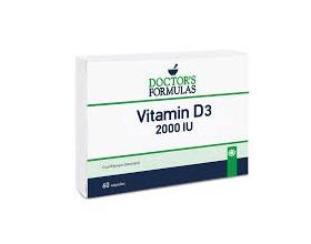 Doctor's Formulas Vitamin D3 2000iu Συμπλήρωμα διατροφής που συμβάλλει στη διατήρηση της φυσιολογικής κατάστασης των οστών, των μυών και των δοντιών 60  Κάψουλες