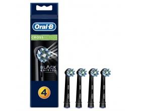 Oral-B CrossAction Black Edition Κεφαλές Οδοντόβουρτσας, 4τμχ