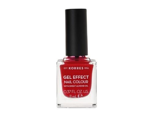 Korres Βερνίκι Νυχιών Gel Effect Nail Colour No51 Rosy Red 11ml
