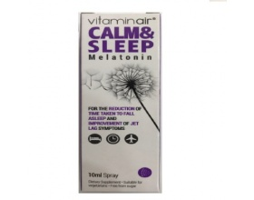 Medicair Vitaminair Calm & Sleep Melatonin Κατάλληλο για την έλευσης του ύπνου και βελτίωση του βιολογικού αποσυγχρονισμού 10ml