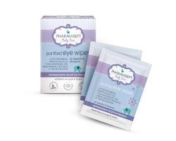 Pharmasept Baby Purified Eye Wipes Αποστειρωμένα μαντηλάκια για καθαρισμό των ματιών με Χαμομήλι και Γλυκερίνη 10τεμ