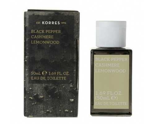 Korres Eau de Toilette Black Pepper, Cashmere & Lemonwood Ανδρικό Άρωμα, 50 ml