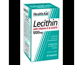 Health Aid Lecithin 1000Mg + Natural Vitamin E 45Iu + Coq 10 10Mg  30 κάψουλες