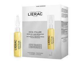 LIERAC CICA-FILLER SERUM Αντιρυτιδικός Ορός Επανόρθωσης κατά των ρυτίδων 3x10ml