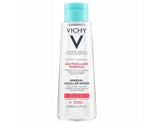 Vichy Eau Micellaire Mineral Water Νερό για πρόσωπο & μάτια για ευαίσθητη επιδερμίδα μαζί με πανθενόλη για ενυδάτωση 200 ml