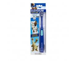 Elgydium Power Kids Ice Age Toothbrush Ηλεκτρική Οδοντόβουρτσα για αγόρια χρώμα μπλέ , 1 τμχ