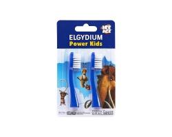 ELGYDIUM Power Kids Ανταλλακτικά κεφαλής για την οδοντόβουρτσα μπλέ 2 τεμάχια