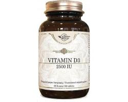 Sky Premium Life Vitamin D3 2500 IU Συμβάλλει στην κανονική απορρόφηση του ασβεστίου και του φωσφόρου 60 ταμπλέτες