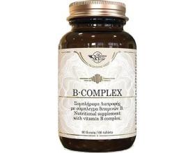 Sky Premium Life Vitamin B-Complex Συμπλήρωμα διατροφής με σύμπλεγμα βιταμινών Β 60 ταμπλέτες