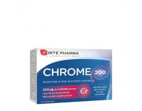 Forte Pharma Chrome 200 Συμπλήρωμα Διατροφής με Χρώμιο, o καλύτερος μεταβολισμός σακχάρων και λιπών 30 tabs