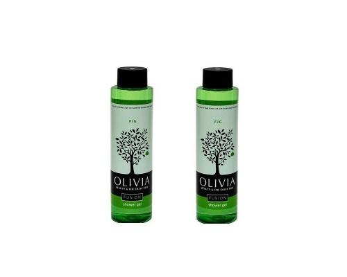 Olivia Promo Fusion Shower Gel Fig, Αφρόλουτρο με Εκχυλίσματα Σύκου, Ιδανικό για Λιπαρή Επιδερμίδα 2x300ml