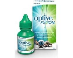 Allergan Optive Fusion Λιπαντικές Οφθαλμικές Σταγόνες με Υαλουρονικό Οξύ, 10ml