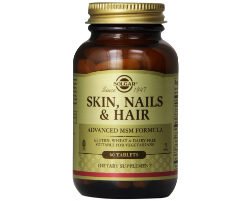 Solgar Skin, Hair, Nails Συμπλήρωμα διατροφής για υγιή επιδερμίδα, γερά νύχια και μαλλιά 60 ταμπλέτες