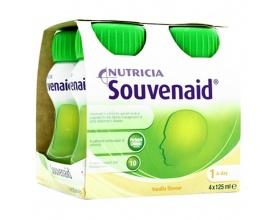 NUTRICIA Souvenaid Vanilla Iσοθερμιδικό ρόφημα, κατάλληλο για τη διατροφική διαχείριση ασθενών στο αρχικό στάδιο της Νόσου Alzheimer 4x125ml