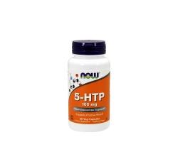 Now Foods 5-HTP 100mg Συμπλήρωμα Διατροφής ασφαλές και αποτελεσματικό στην υποστήριξη μιας υγιούς διάθεσης, 60vegcaps