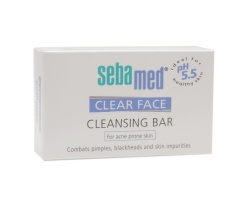 Sebamed Clear Face Cleansing Bar Καθαρίζει το λιπαρό, με τάση Ακμής, δέρμα, 100gr