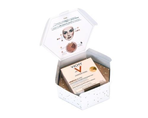 Vichy Christmas Glow Mineralblend Tri-Colour Powder Tan Πούδρα για Λάμψη & Φυσική Κάλυψη, 9g