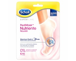 Scholl PediMask Nutriente Nourish 0% Μάσκα Ποδιών Χωρίς Αρώματα & Χρωστικές, 1 ζευγάρι