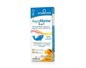 Vitabiotics AquaMarine 2 Σε 1 Μουρουνέλαιο & Ωμέγα 3, Με Γεύση Λεμόνι-Πορτοκάλι, 250ml