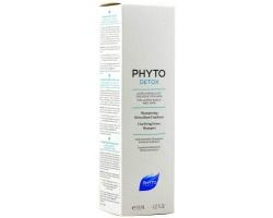 Phyto Phytodetox Shampoo Καθαριστικό Αποτοξινωτικό Σαμπουάν, πλούσιο σε μαλακτικά φυτά και συνδυάζει ισχυρές καθαριστικές ιδιότητες 125ml
