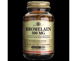 Solgar Bromelain 300mg, Πεπτικό Ενζυμο Βρομελαϊνης, 30vegcaps