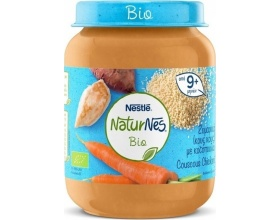 Nestle NaturNes Bio, Έτοιμη Βιολογική Τροφή με Κούς Κούς και Κοτόπουλο 9+m, 190gr