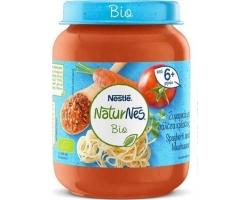 Nestle NaturNes Bio, Έτοιμη Βιολογική Βρεφική Τροφή απο Μακαρόνια με Σάλτσα Κρέατος 6+m, 190ml