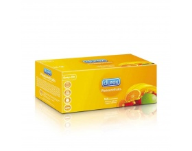 DUREX Προφυλακτικά με αρώματα και γεύσεις: μπανάνα, φράουλα, πράσινο μήλο και πορτοκάλι 144 τμχ
