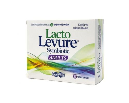 Uni-pharma LactoLevure Symbiotic Adults Συμπλήρωμα Διατροφής Προβιοτικών για Ενήλικες 20 sticks