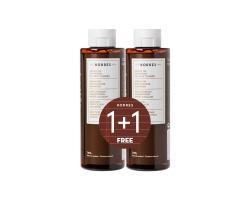 Korres 1+1 ΔΩΡΟ Argan Oil Shampoo Σαμπουάν προστασίας χρώματος για εφαρμογή μετά τη βαφή μαλλιών 2*250ml