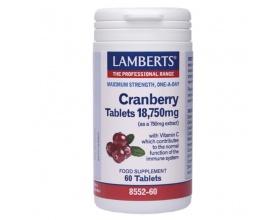 Lamberts Cranberry 18,750mg για την Υγεία του Ουροποιητικού, 60 Ταμπλέτες
