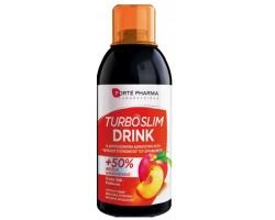 FORTE PHARMA Turboslim drink Στέγνωμα Σιλουέτας, Ενίσχυση Καύσεων, Με Γεύση Πράσινο Τσάι-Ροδάκινο, 500ml
