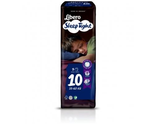 Libero Sleep Tight, Πάνα Βρακάκι Νο10 35-60Kg, 9 πάνες