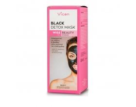 Vican Wise Beauty Black Detox Mask Μάσκα προσώπου με ενεργό άνθρακα, 50ml