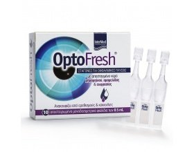 Intermed Optofresh Drops Σταγόνες για Οφθαλμικές Πλύσεις, φυσική ανακούφιση των ξηρών, κουρασμένων & ερεθισμένων οφθαλμών 10 x 0,5ml